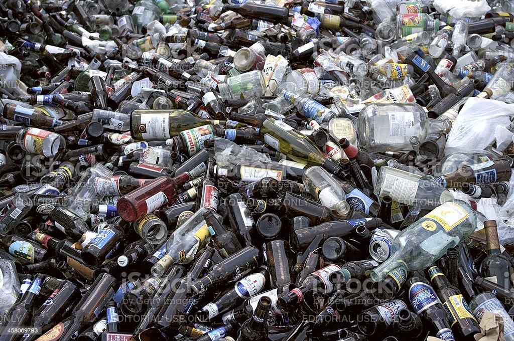 Bottles load stock photo