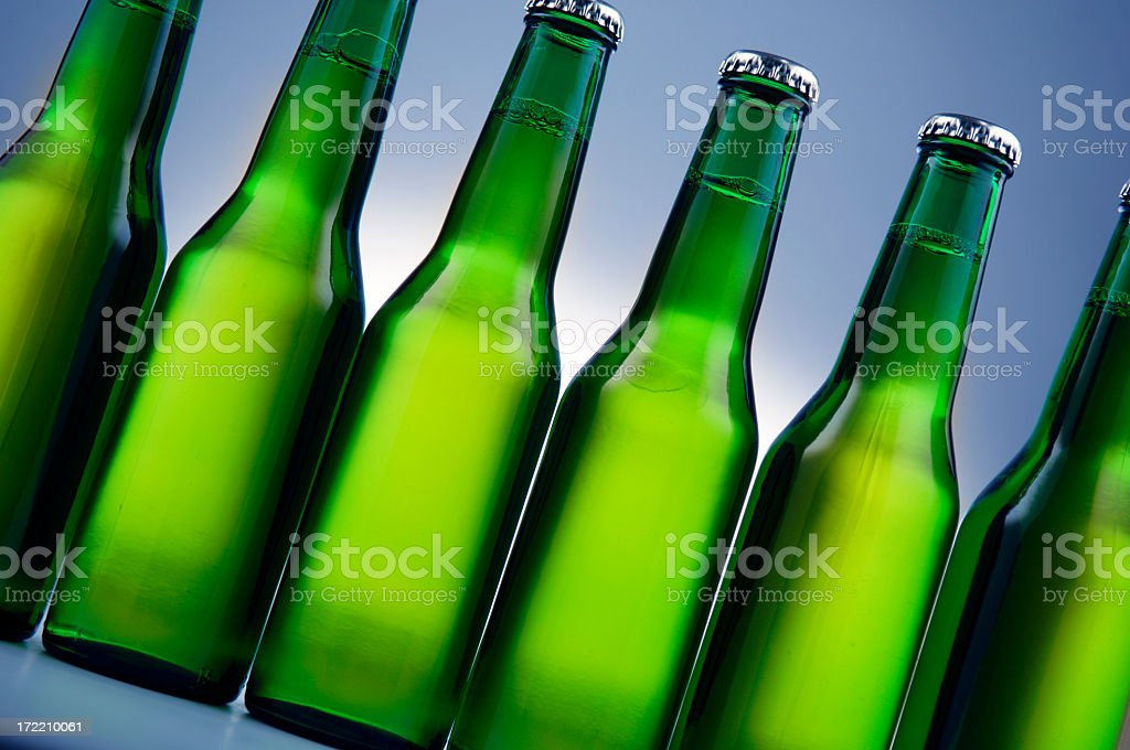 Bottles Of Beer royalty-free stock photo