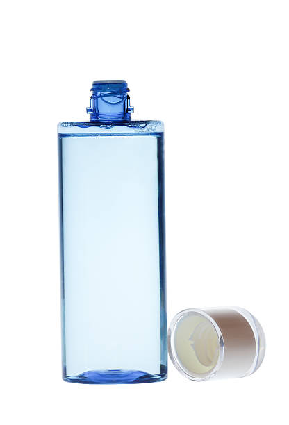 bottles of body care and beauty products stock photo