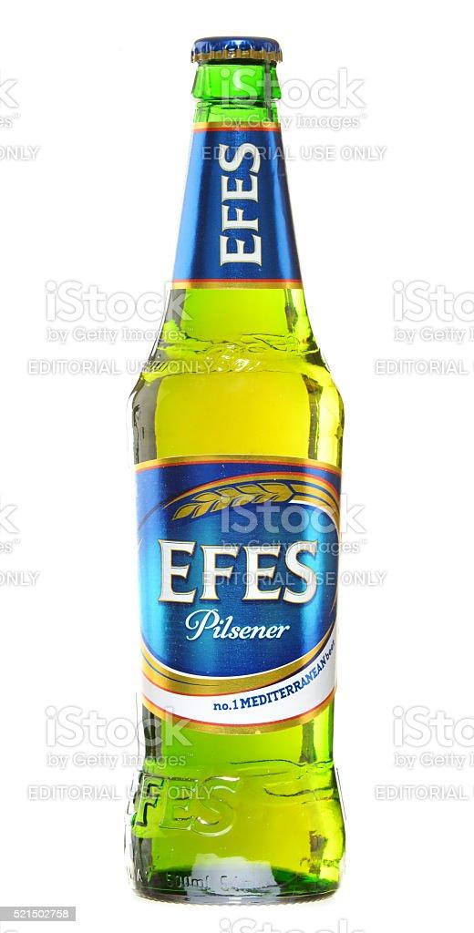 Bottles of Efes Pilsener stock photo