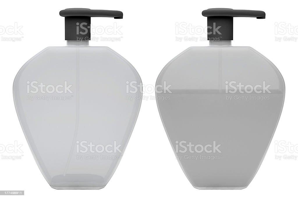 Bottles of liquid soap royalty-free stock photo
