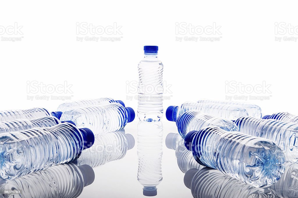 Bottles of mineral water royalty-free stock photo