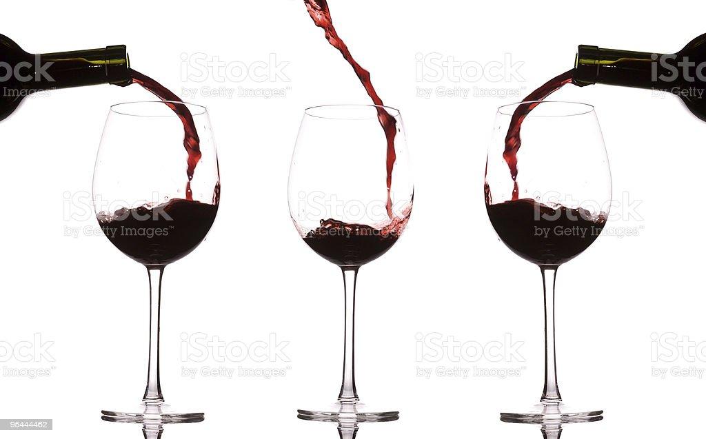 Wein Spritzendes Wasser – Foto