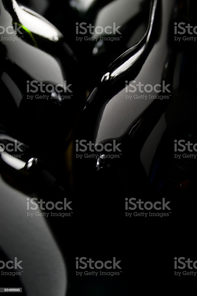 Bottles of red wine in a row royalty-free stock photo