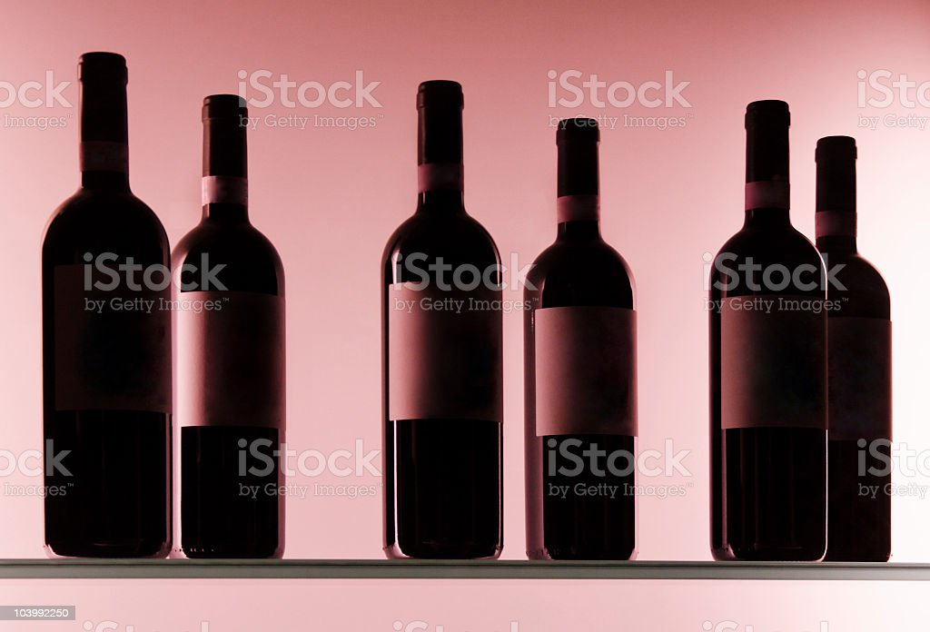 Bottles of red wine royalty-free stock photo