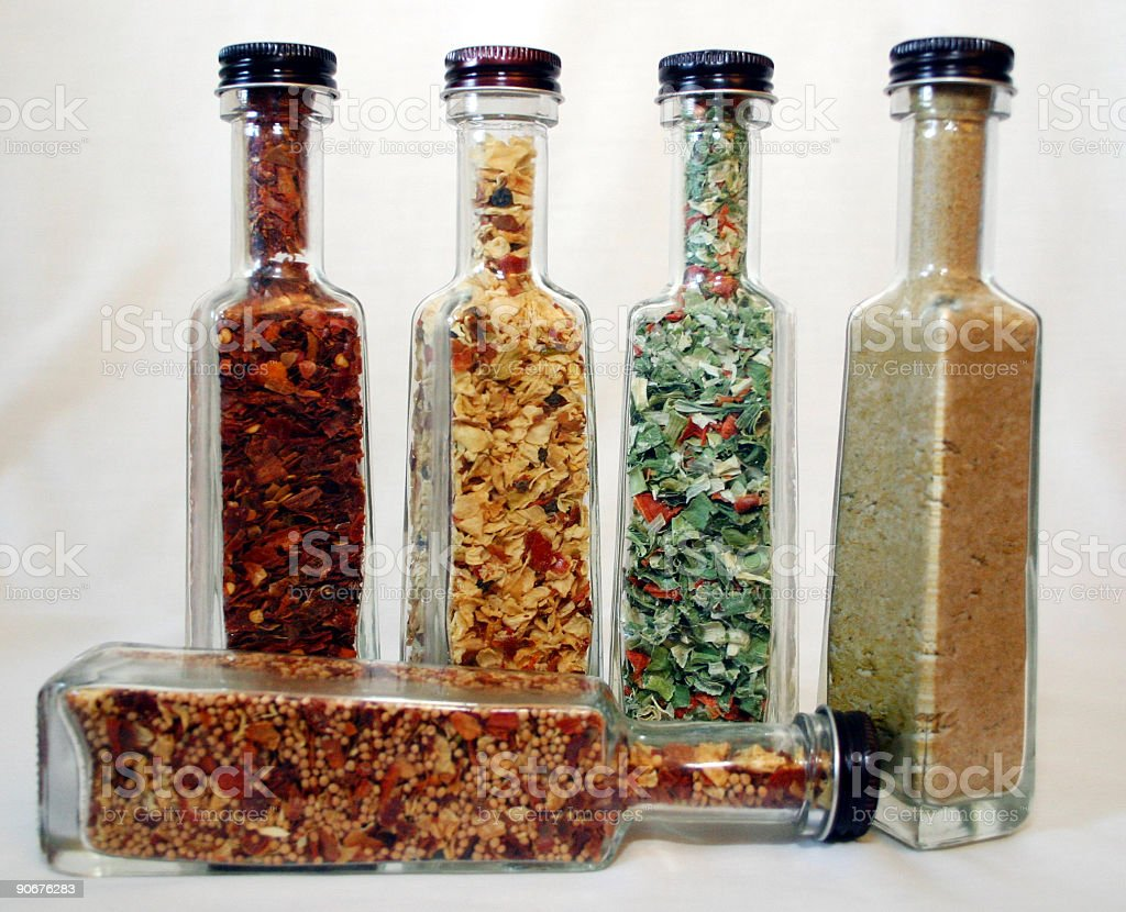 bottles of spices royalty-free stock photo
