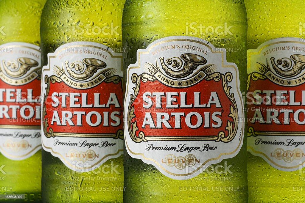 Bottles of Stella Artois royalty-free stock photo