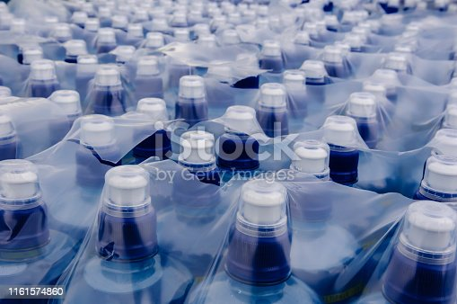 Bottles of water in plastic outer wrapper