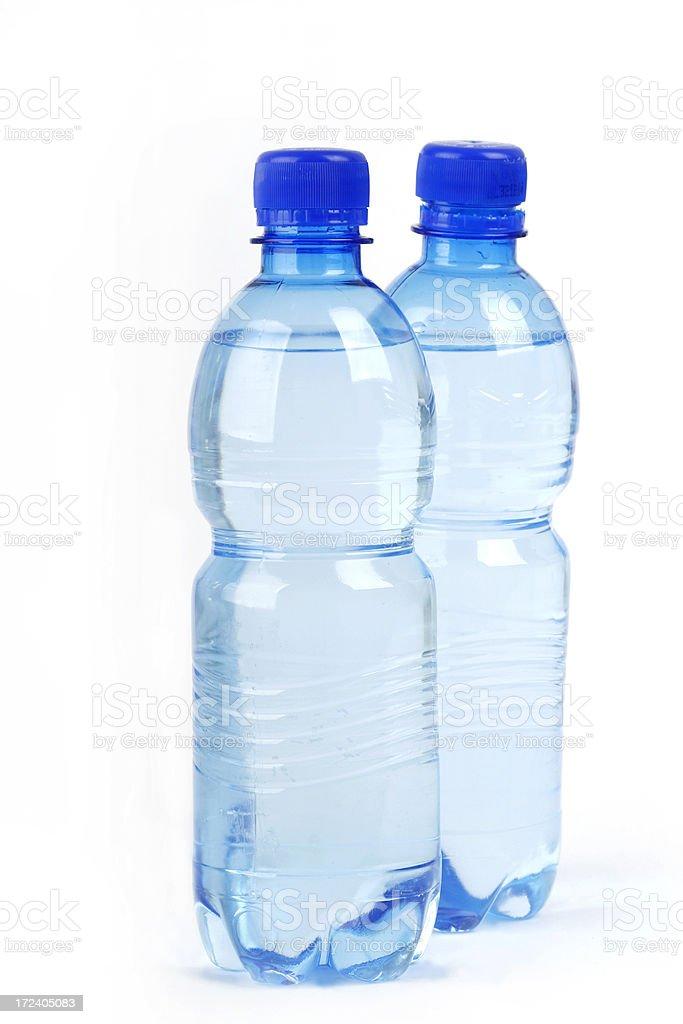 Bottles of water stock photo