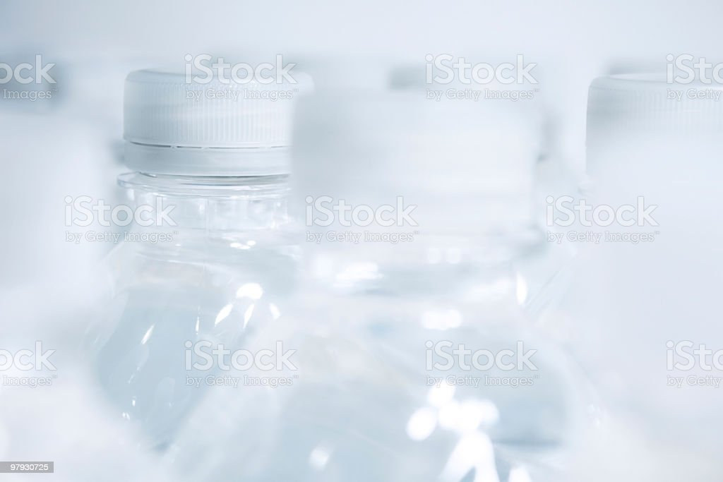 Bottles of water royalty-free stock photo