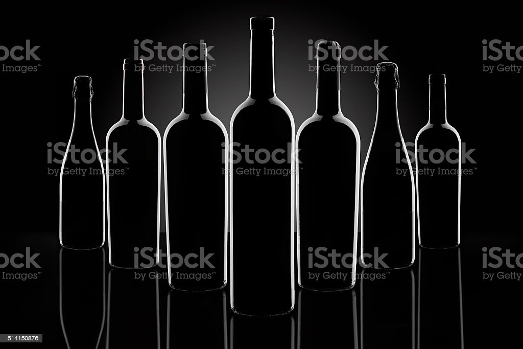 Botellas de vino - foto de stock