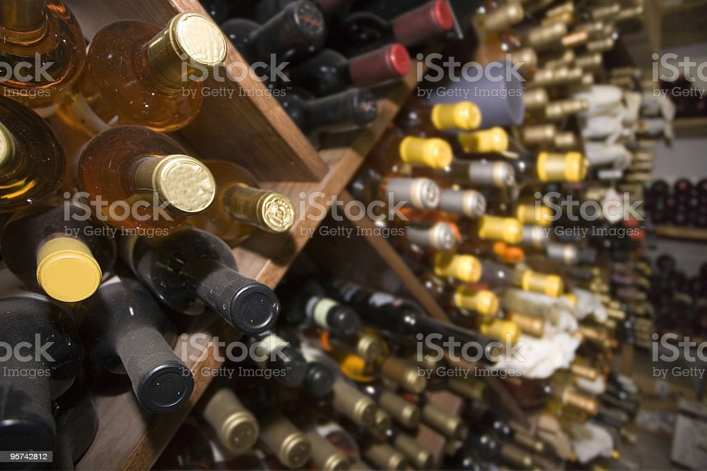 Bottles of wine royalty-free stock photo
