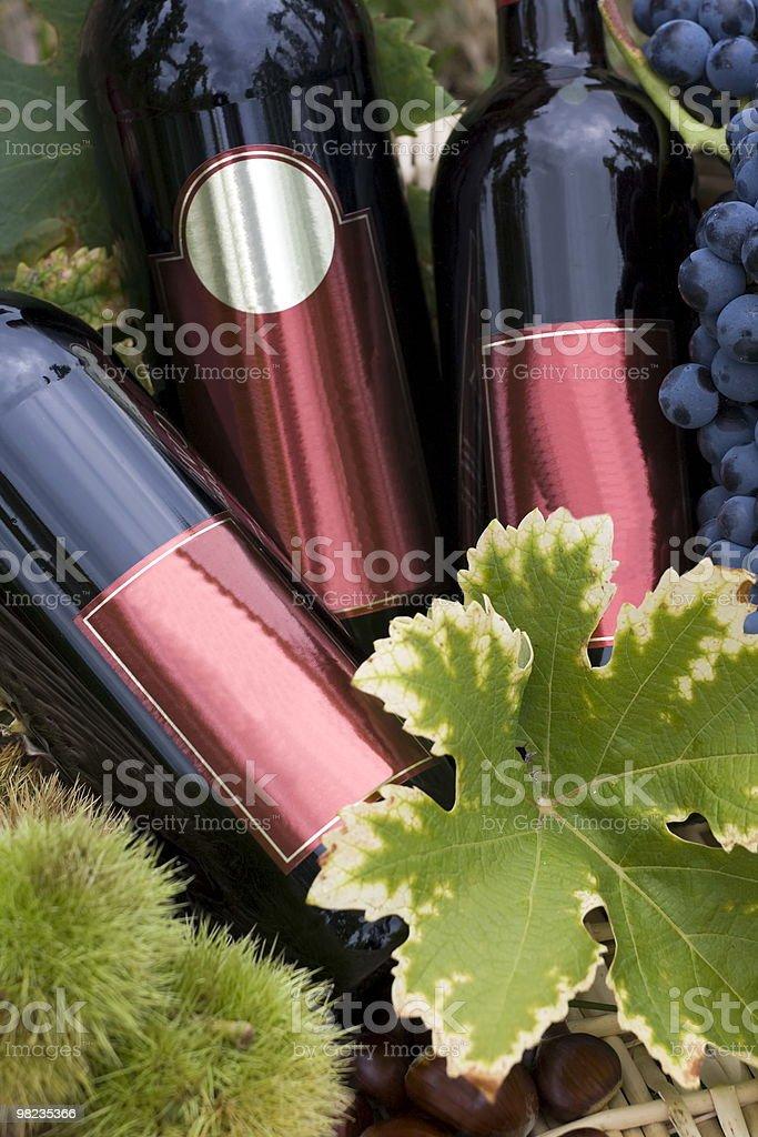 Bottles of wine royalty-free stock photo
