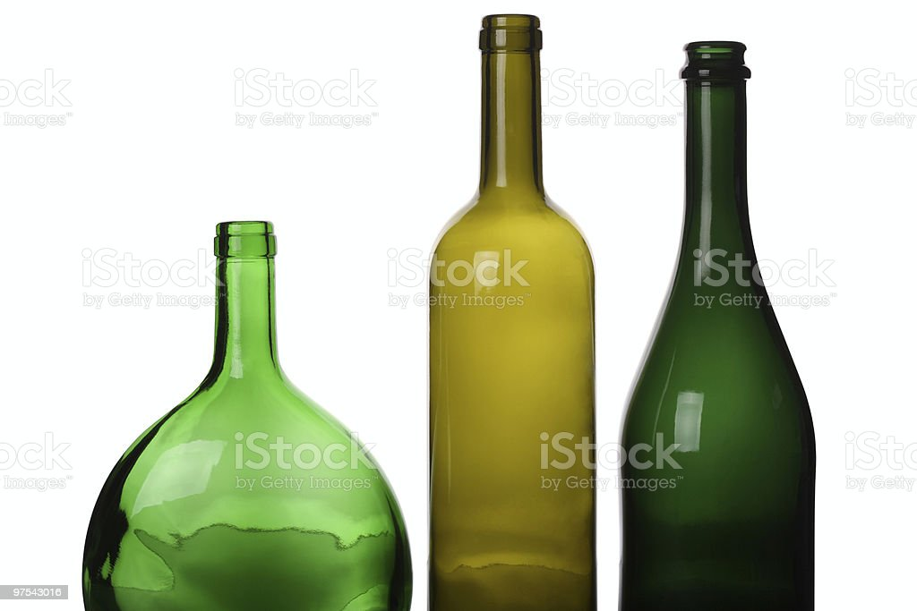 Bottles Red White and Sparkling Wine royalty-free stock photo