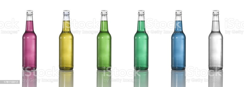 bottles with desaturated colors royalty-free stock photo