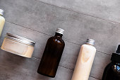istock Bottles with spa cosmetic products flat lay 1023635358