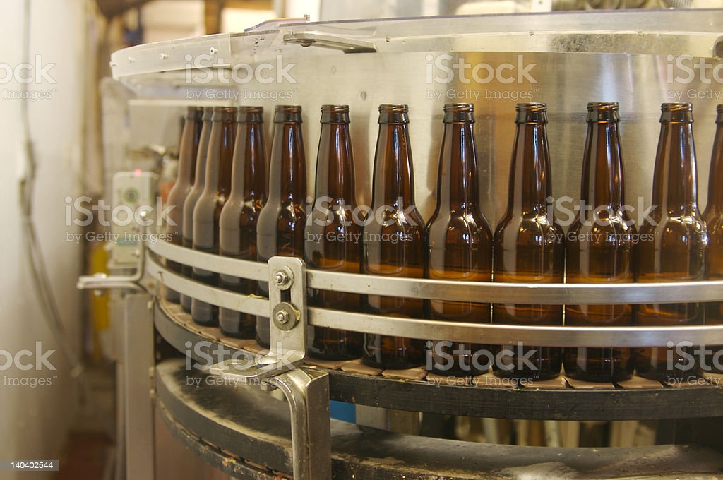 Bottling equipment stock photo