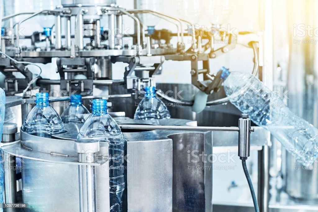 Bottling line for processing and bottling of pure mineral water in...