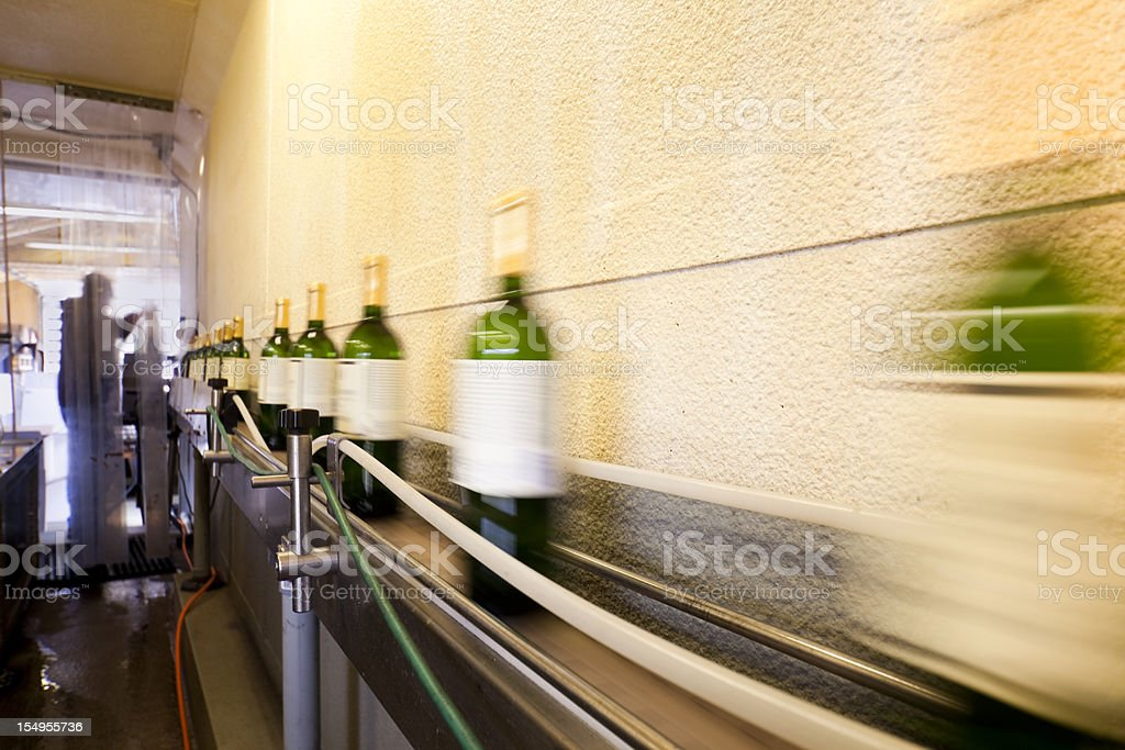 Bottling Line stock photo