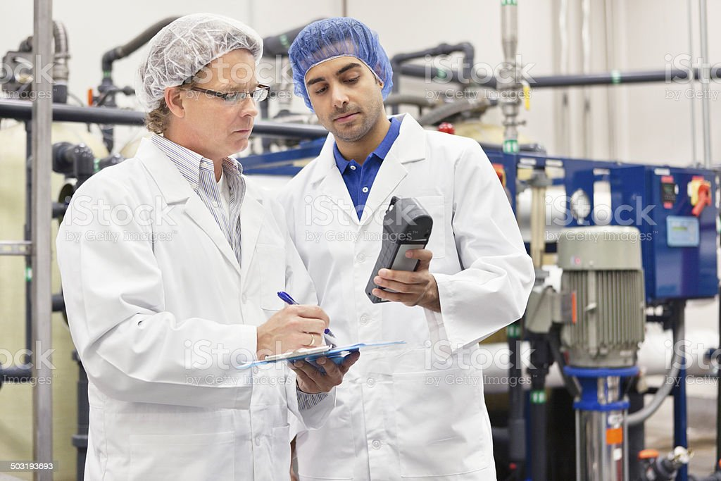 Bottling plant and machinery stock photo