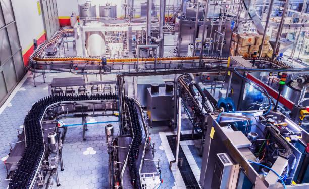 Bottling Plant in Africa stock photo