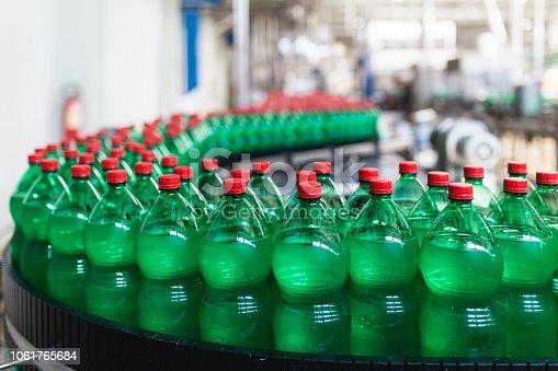 Bottling plant - Water bottling line for processing and bottling carbonated water into bottles.