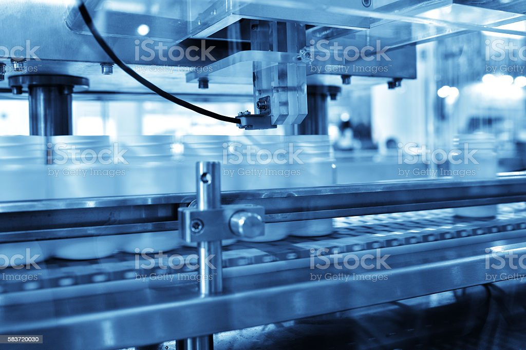 Bottling Production Line stock photo