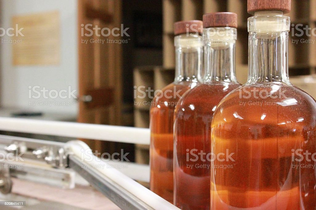 Bottling Whiskey stock photo