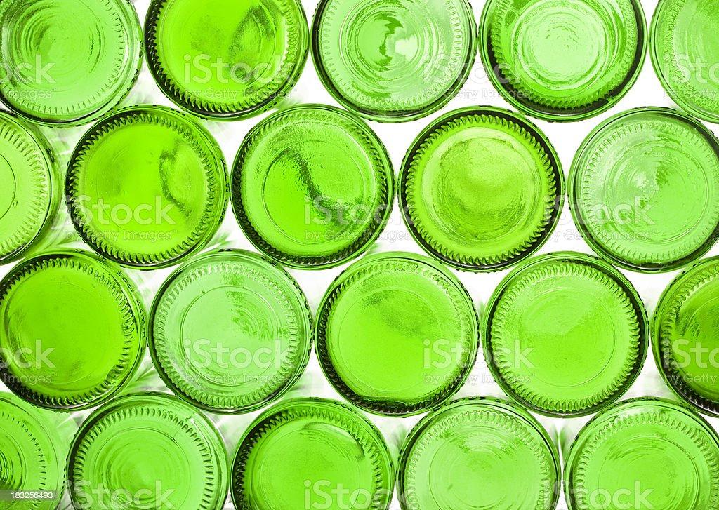 Bottom beer botels pattern. stock photo