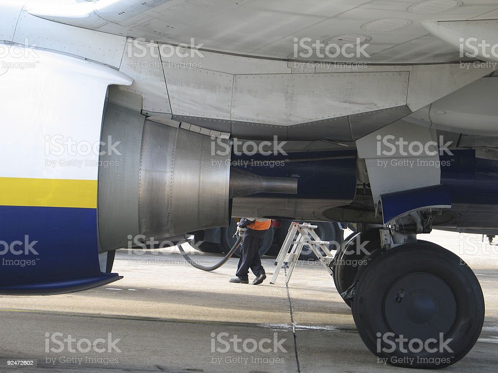 Bottom of a plane royalty-free stock photo
