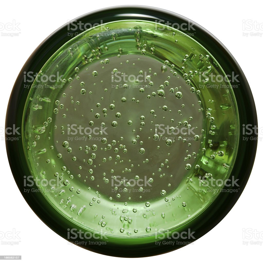 Bottom of glass stock photo