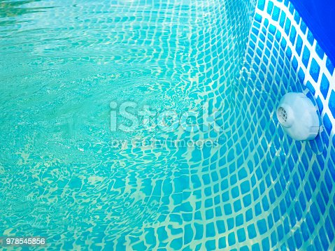 istock bottom of the pool with water blue mosaic. competitions in swimming. 978545856