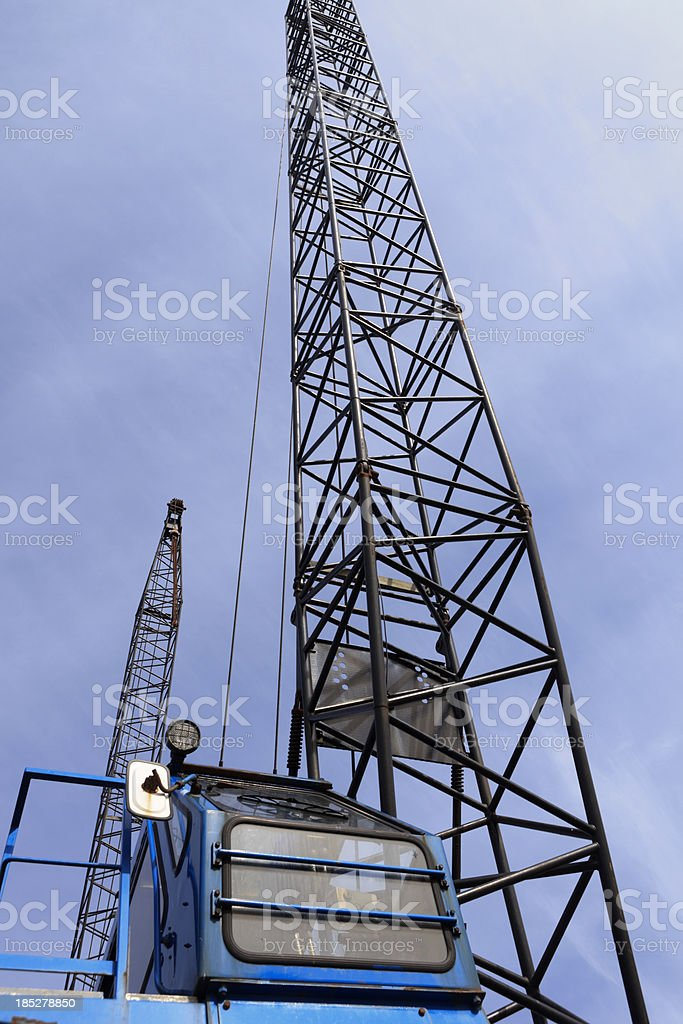 bottom view of a port crane royalty-free stock photo