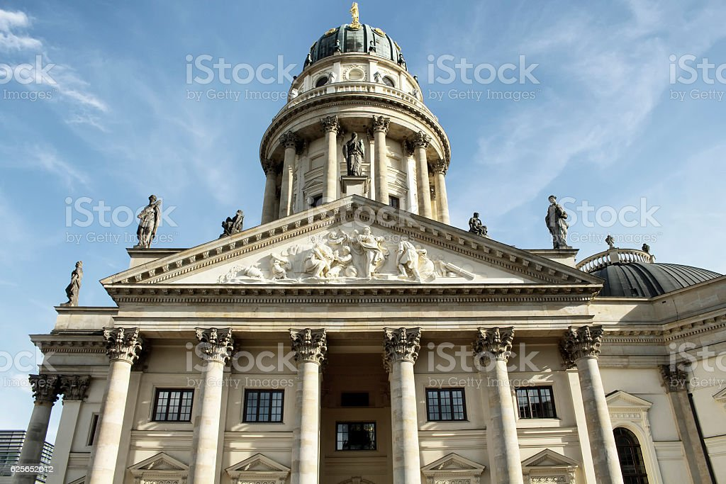 Bottom view of German Cathedral stock photo