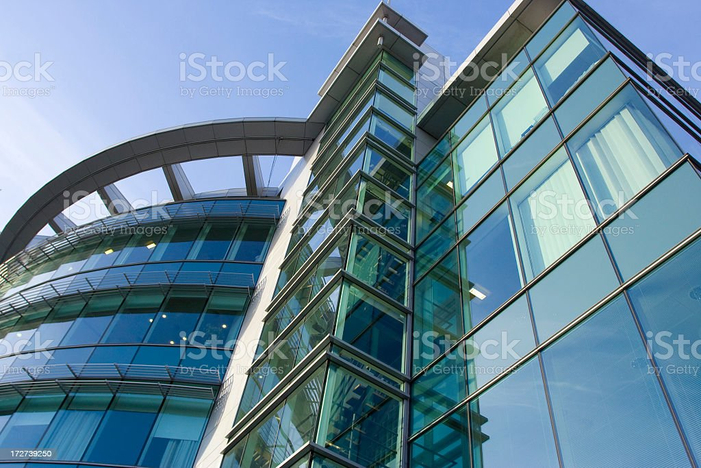 Bottom view of modern office building royalty-free stock photo