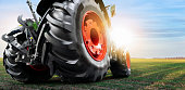 istock Bottom view of tractor 1214073786