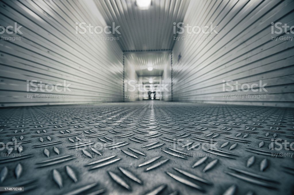 Bottom View of Underpass Tunnel in the City stock photo