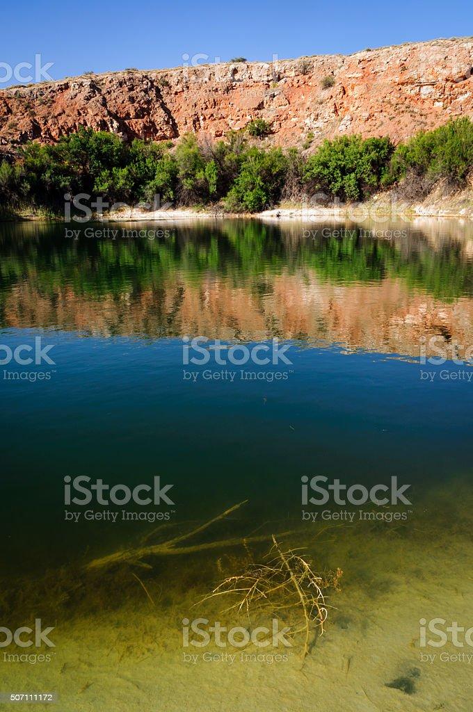 Bottomless Lakes State Park stock photo