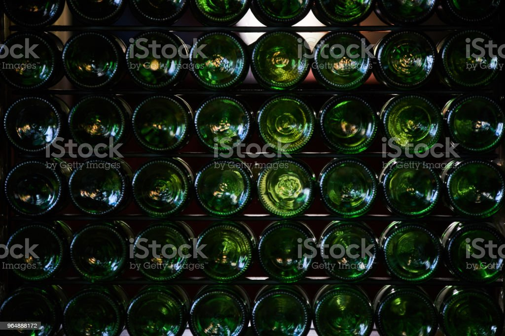 Bottoms of beer bottles royalty-free stock photo