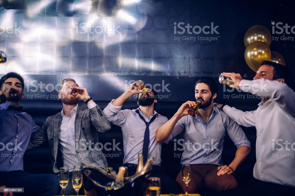 Bottoms up ! stock photo
