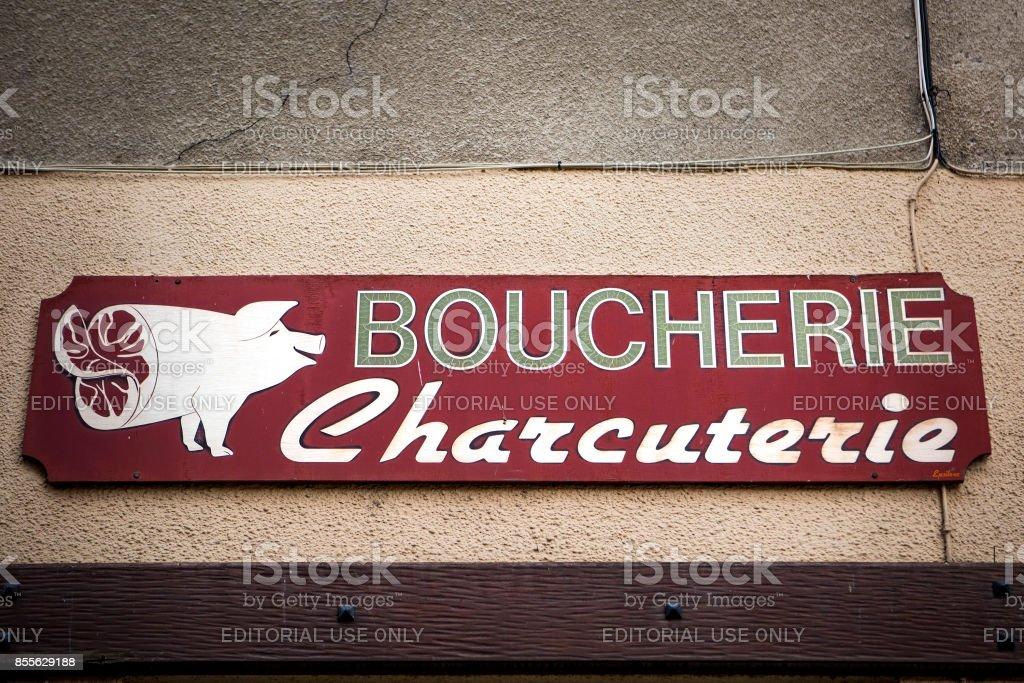Boucherie Zeichen - Tournus, Frankreich – Foto