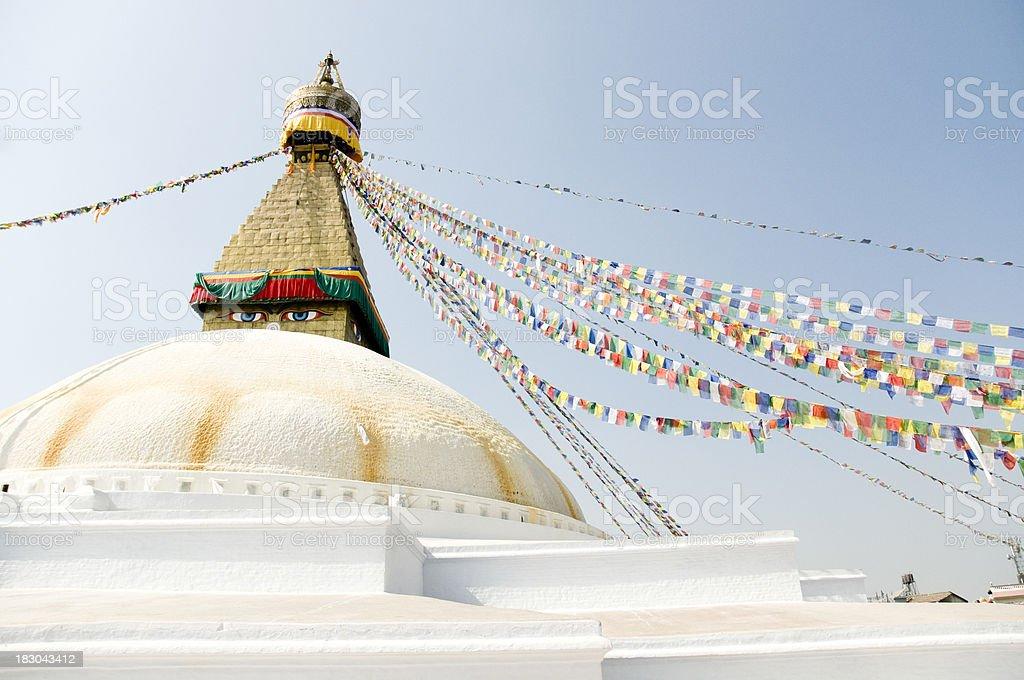 Boudhanath, Bodnath Stupa, Nepal royalty-free stock photo