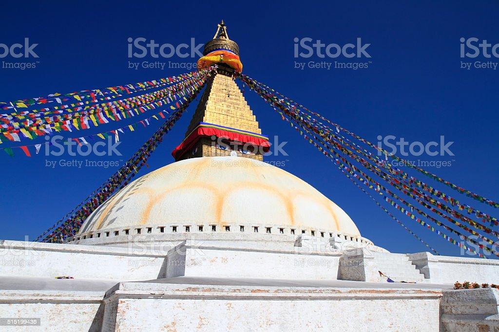 Boudhanath in Kathmandu, Nepal. stock photo