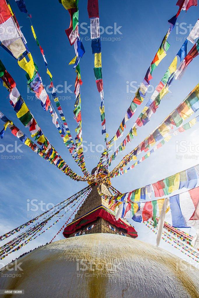 Boudhanath, Kathmandu, Nepal stock photo