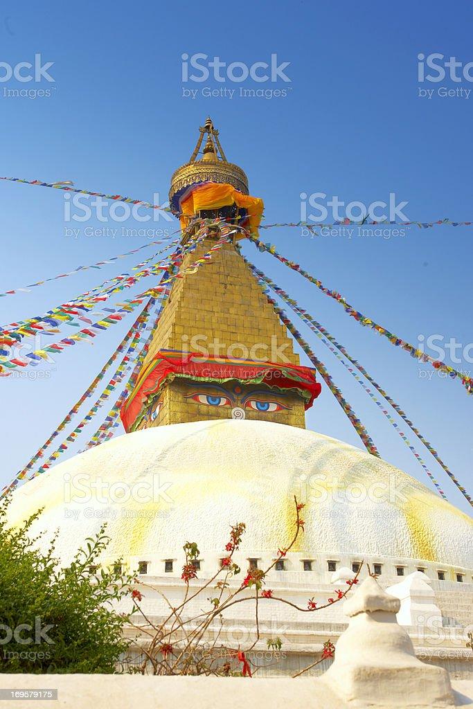 Boudhanath Stupa in Kathmandu Nepal royalty-free stock photo