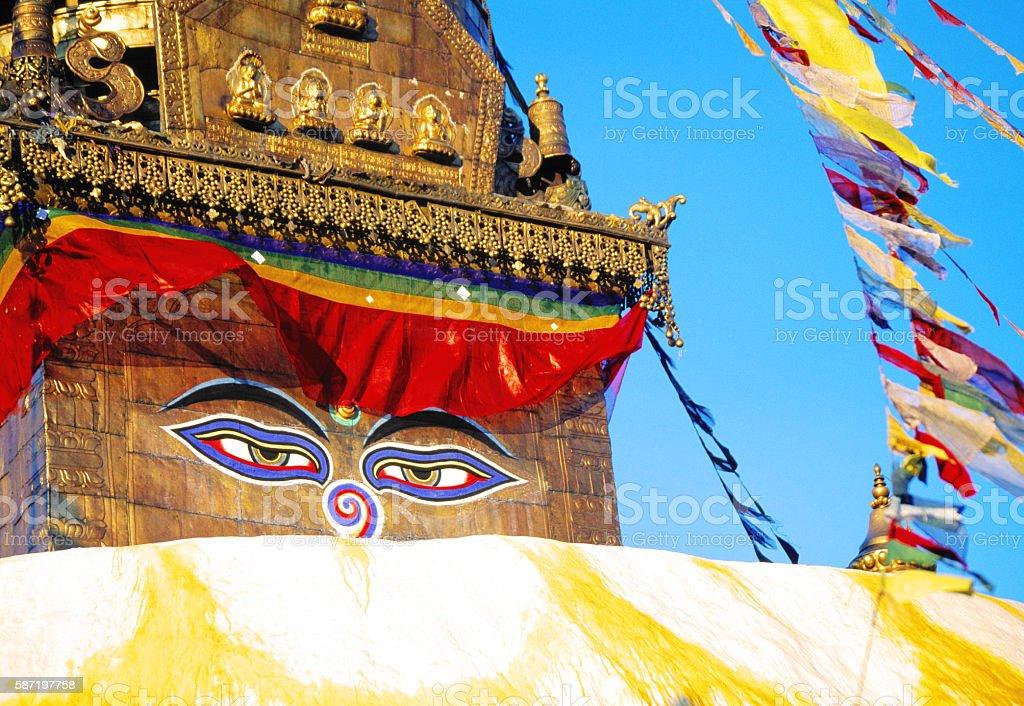 Boudhanath Stupa in Kathmandu, Nepal stock photo