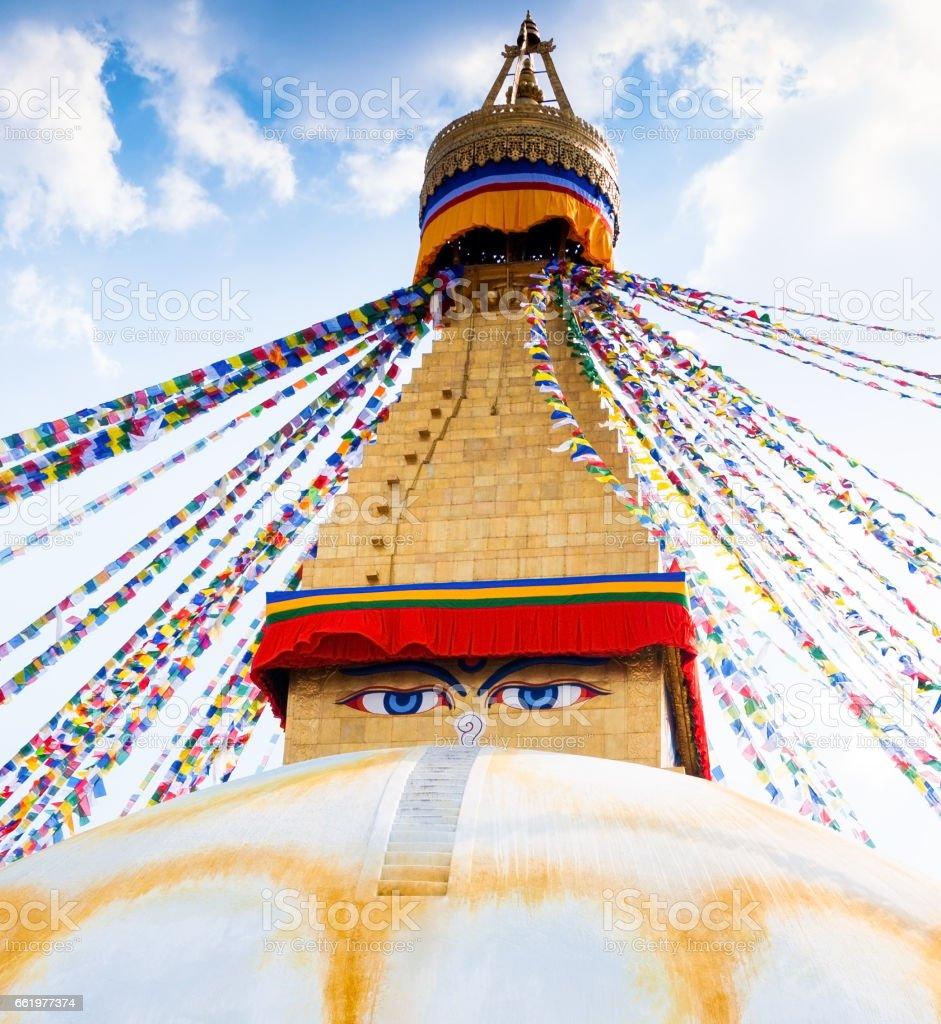 Boudhanath Stupa in Kathmandu valley, Nepal royalty-free stock photo