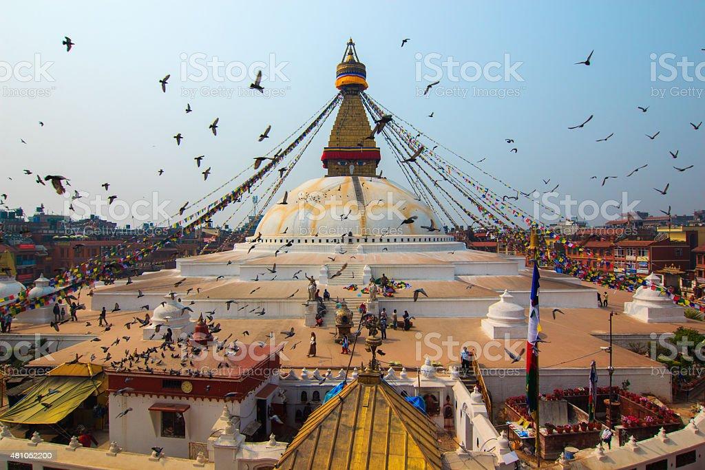 Boudhanath stupa in Kathmandu,Nepal. stock photo
