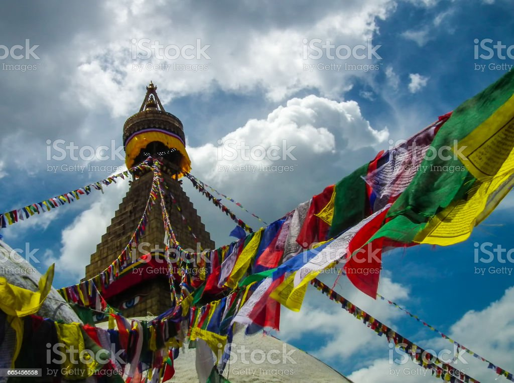 Boudhanath Stupa - Kathmandù - Nepal stock photo