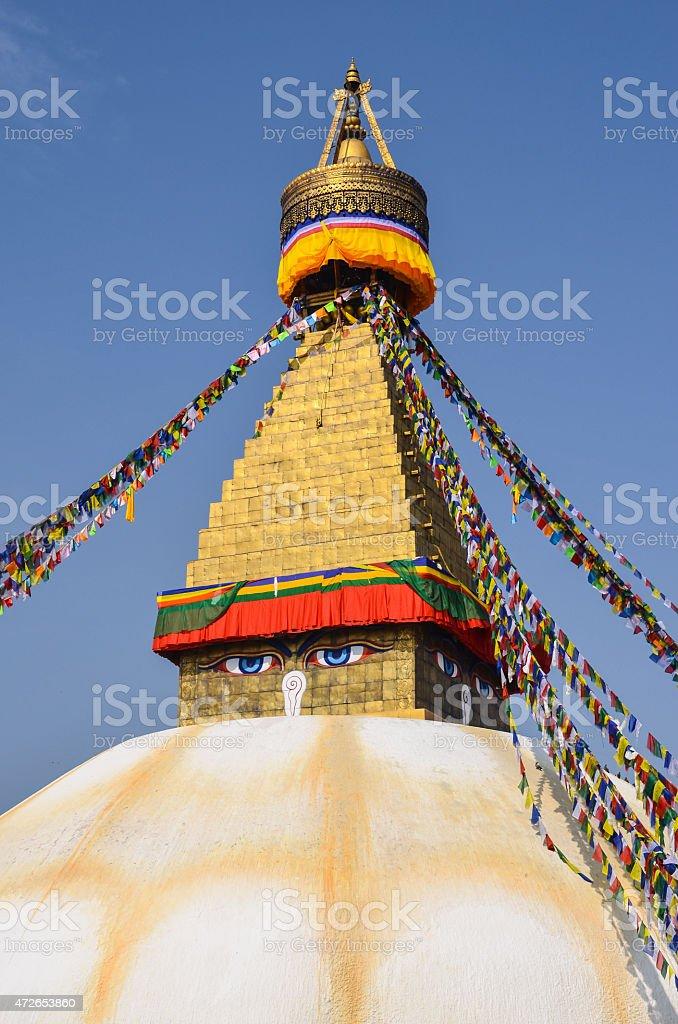 Boudhanath stupa , Kathmandu , Nepal. stock photo